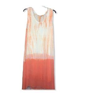 Soft Surroundings Dress Tie Dye Maxi Tank Dress 1X